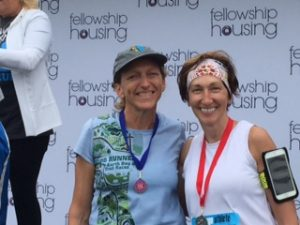 With Dawn, one of my running buddies, at last year's FH 5K